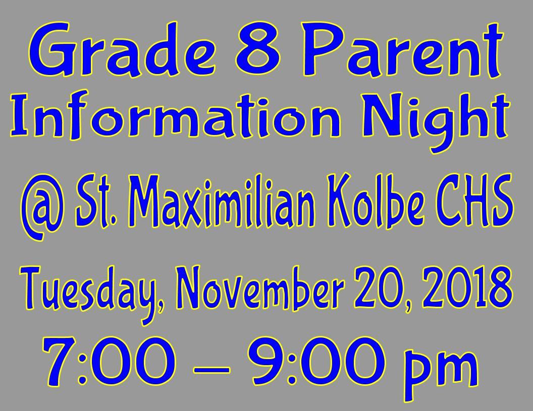 Grade 8 Parent Night