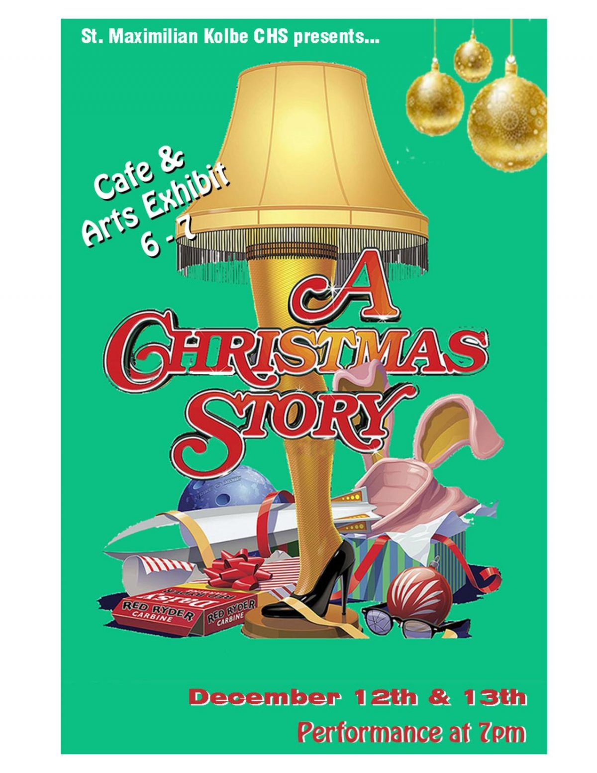 "Cafe, Art Exhibit, and Play ""A Christmas Story"""