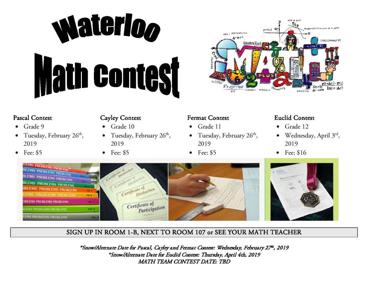 Waterloo Math Contest