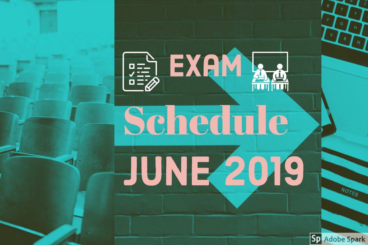 Final Exam Schedule June 2019