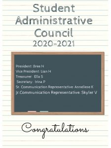 Student Administrative Council 2020-2021
