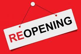 Office Reopening Monday August 24, 2020